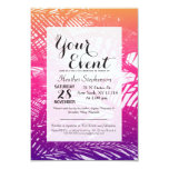 Tropical Orange, Pink, & Purple Palm Fronds Card