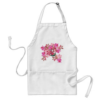 Tropical Orchid Floral Botanical Flowers Island Adult Apron