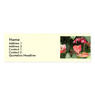 Tropical Orchid flowers Business Card