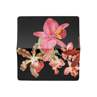 Tropical Orchid Flowers Floral Islands Checkbook Cover