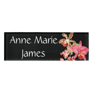 Tropical Orchid Flowers Floral Name Tag