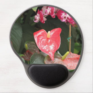 Tropical Orchid flowers Gel Mouse Pad