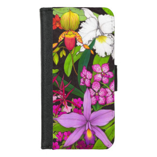 Tropical Orchid Flowers iPhone Wallet Case