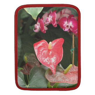 Tropical Orchid flowers Sleeves For iPads