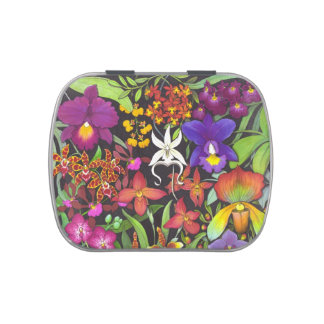 Tropical Orchid Garden Candy Tin