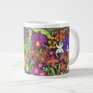 Tropical Orchid Garden Flowers Jumbo Mug 20 Oz Large Ceramic Coffee Mug