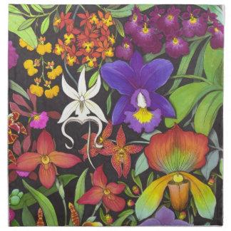 Tropical Orchid Garden Napkin