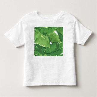 Tropical overlapping banana leaves toddler t-shirt