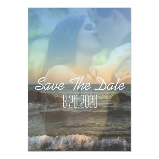 Tropical Overlay Photo Magnet Save The Date