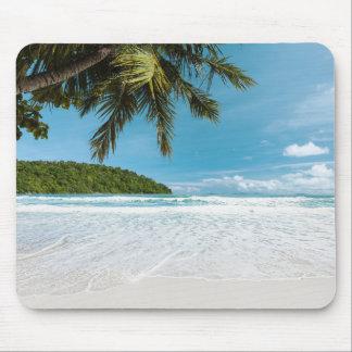 Tropical Palm Beach Mouse Pad