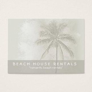 Tropical Palm Beach Rentals (chubby) Business Card
