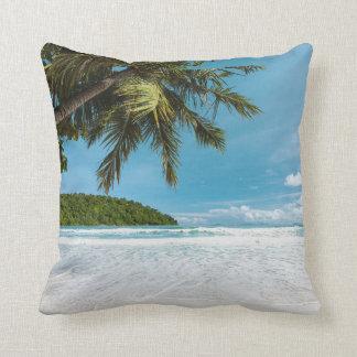Tropical Palm Beach Throw Pillow