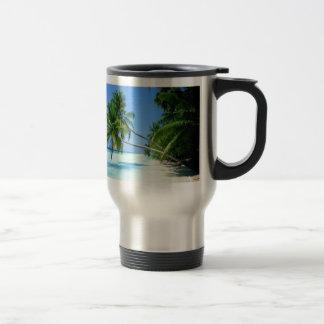 Tropical Palm Beach! Travel Mug