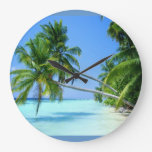 Tropical Palm Beach! Wall Clock