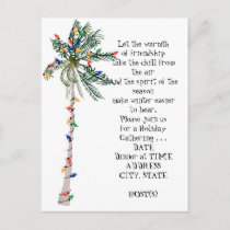 Tropical Palm Christmas Tree Holiday Party Invite