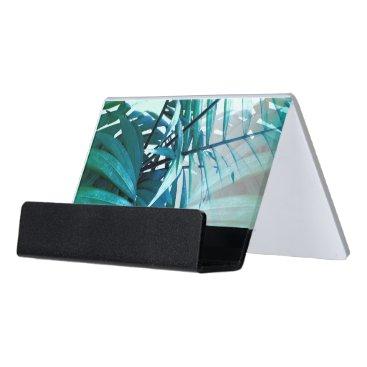 Professional Business Tropical Palm Desk Business Card Holder