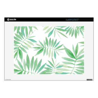 """Tropical palm fern storm decal for 15"""" laptop"""