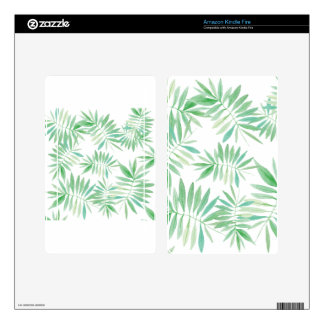 Tropical palm fern storm kindle fire decal
