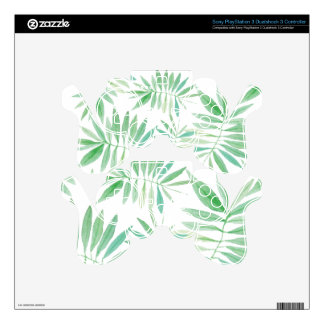 Tropical palm fern storm PS3 controller decal