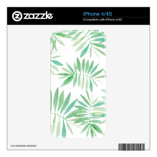 Tropical palm fern storm skins for iPhone 4S