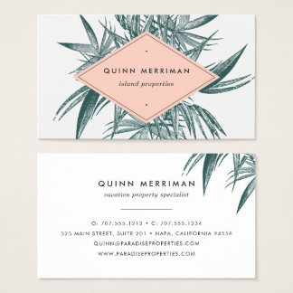 Tropical Palm Frond Business Card