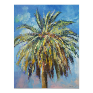 "Tropical Palm Invitation 4.25"" X 5.5"" Invitation Card"