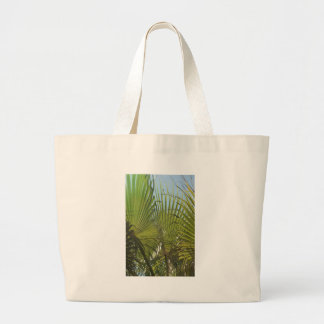Tropical palm large tote bag