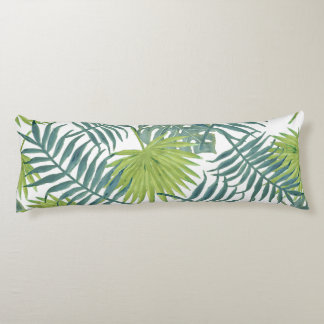 Tropical Palm Leaf Art Painting Pattern Body Pillow