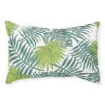 Tropical Palm Leaf Art Painting Pattern Pet Bed