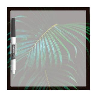 Tropical Palm Leaf Calm Green Minimalistic Dry Erase Board