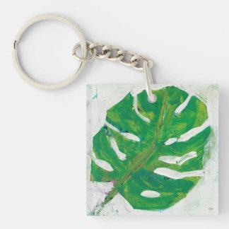 Tropical   Palm Leaf Keychain