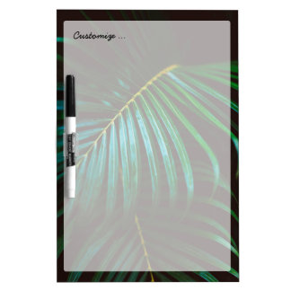 Tropical Palm Leaf Relaxing Green Calming Dry-Erase Board