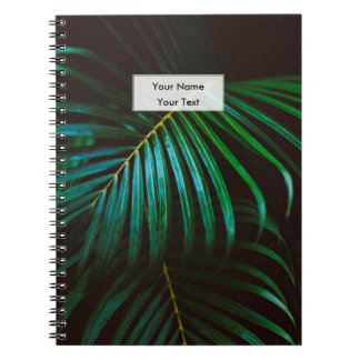 Tropical Palm Leaf Relaxing Green Calming Notebook