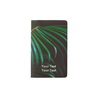 Tropical Palm Leaf Relaxing Green Calming Pocket Moleskine Notebook