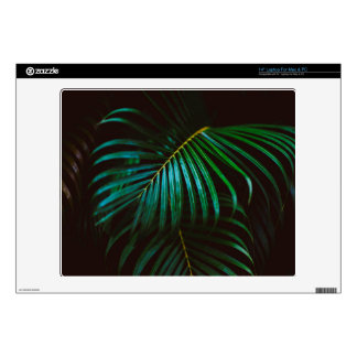 Tropical Palm Leaf Relaxing Green Meditative Decals For Laptops