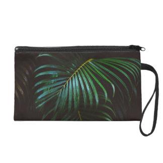 Tropical Palm Leaf Relaxing Green Meditative Wristlet Purse