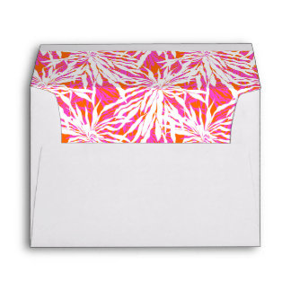 Tropical Palm Leaves Envelope