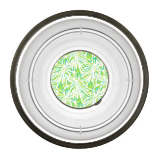 Tropical Palm Leaves Pattern Bowl