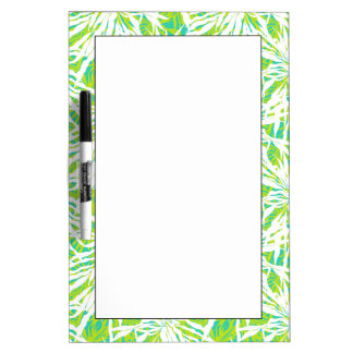 Tropical Palm Leaves Pattern Dry-Erase Board