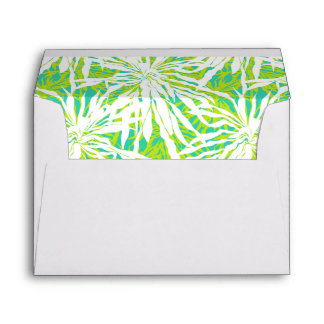 Tropical Palm Leaves Pattern Envelope