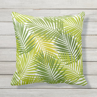 Tropical Palm Leaves Pattern Patio Deck Chair Outdoor Pillow