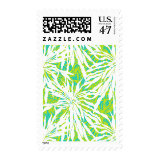 Tropical Palm Leaves Pattern Postage