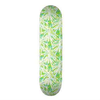 Tropical Palm Leaves Pattern Skateboard Deck