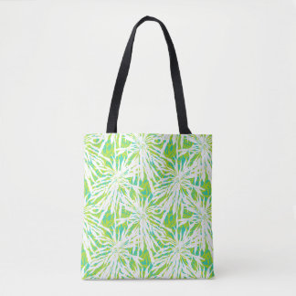 Tropical Palm Leaves Pattern Tote Bag