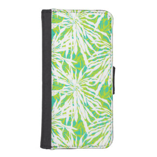 Tropical Palm Leaves Pattern Wallet Phone Case For iPhone SE/5/5s