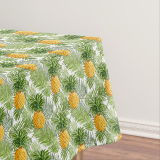 Marvelous Tropical Palm Leaves U0026amp; Pineapples Tablecloth