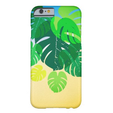 Beach Themed Tropical Palm Leaves Sandy Shore Barely There iPhone 6 Case