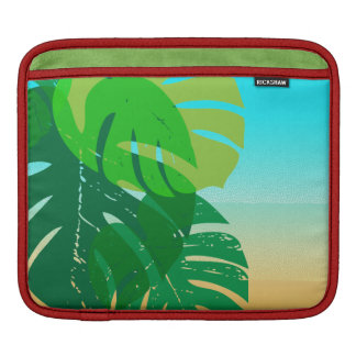 Tropical Palm Leaves Sandy Shore iPad Sleeve