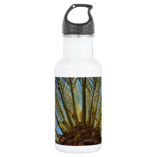 Tropical Palm Leaves Water Bottle