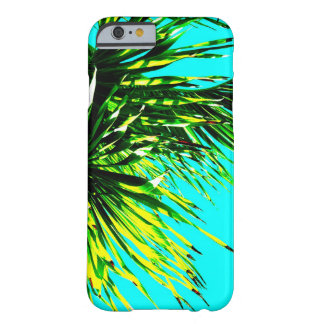 tropical palm nature photography on turquoise barely there iPhone 6 case